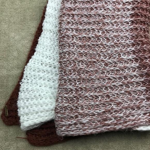 Prana Accessories Brown Ombre Knit Scarf White Loose 27108 Poshmark